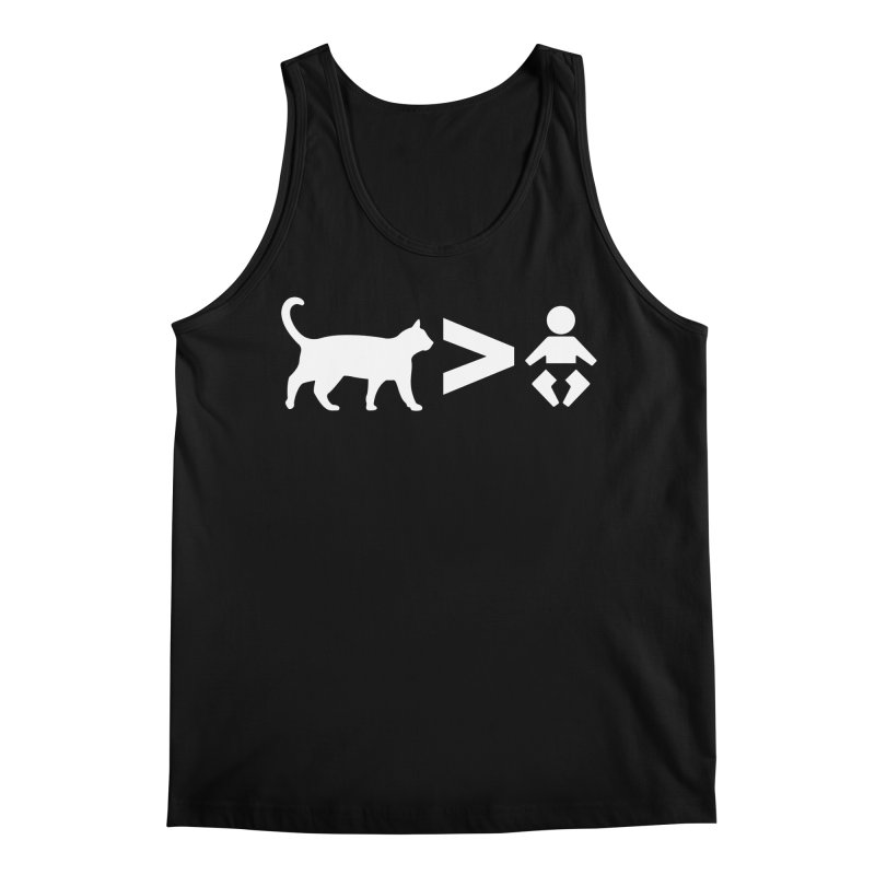 Cats Greater Than (White) Men's Regular Tank by CrowActive