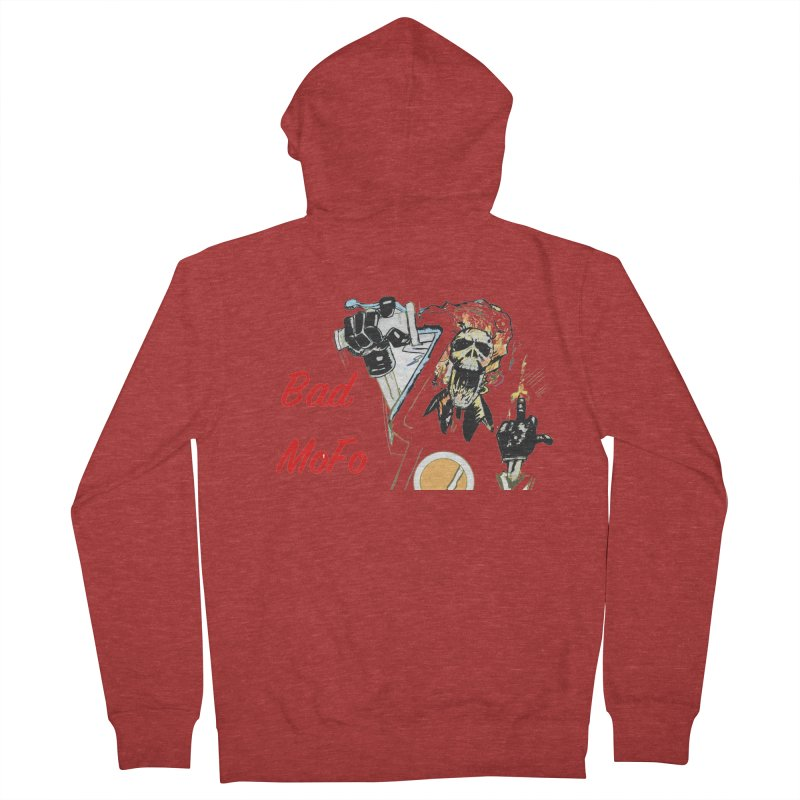 BAD MOFO Women's French Terry Zip-Up Hoody by crowsong's Artist Shop