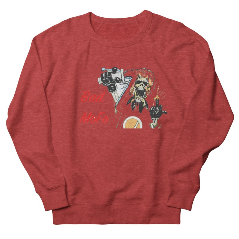 BAD MOFO Men's French Terry Sweatshirt by crowsong's Artist Shop