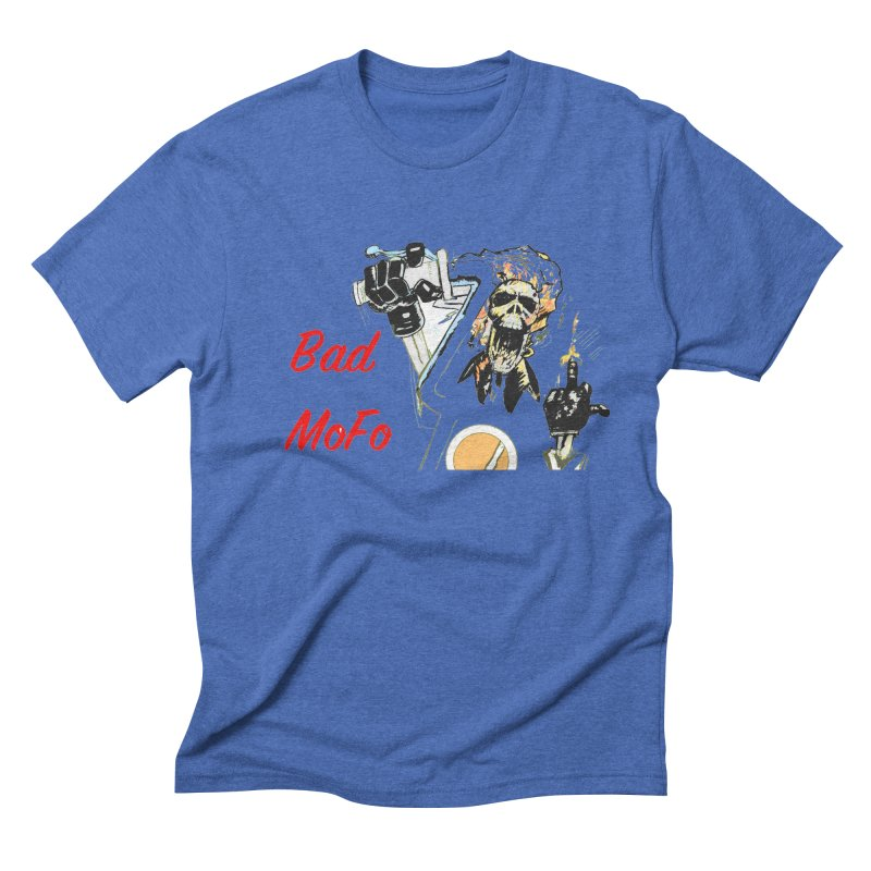 BAD MOFO Men's Triblend T-Shirt by crowsong's Artist Shop