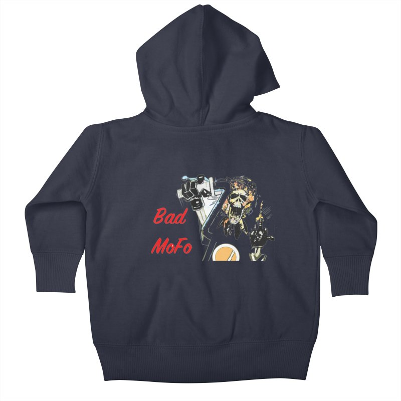 BAD MOFO Kids Baby Zip-Up Hoody by crowsong's Artist Shop
