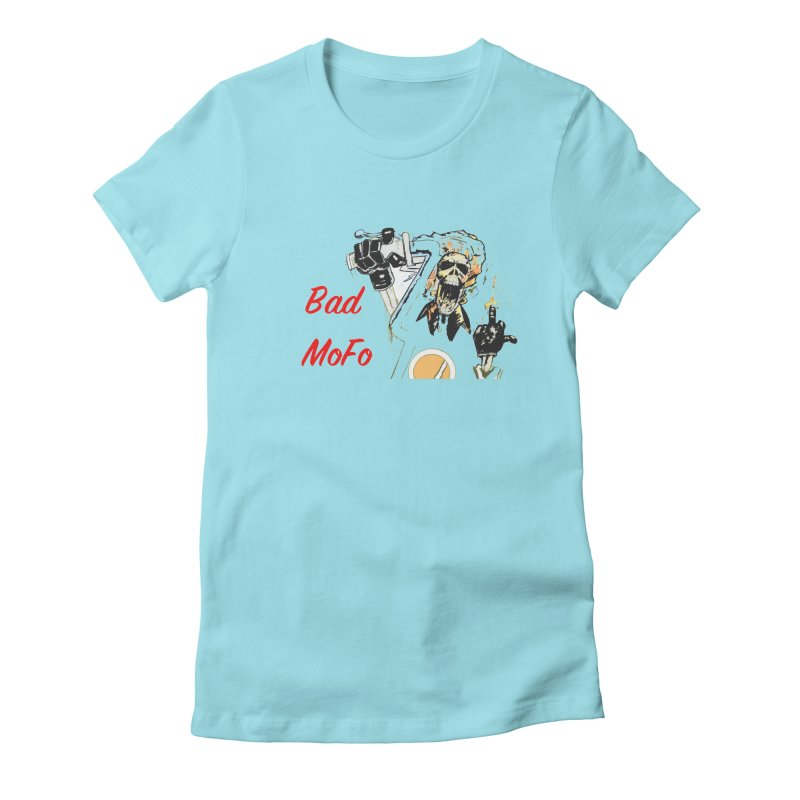 BAD MOFO Women's Fitted T-Shirt by crowsong's Artist Shop
