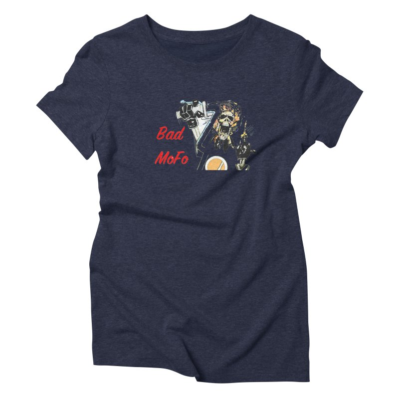 BAD MOFO Women's Triblend T-Shirt by crowsong's Artist Shop