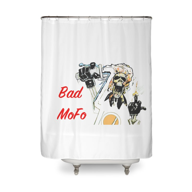 BAD MOFO Home Shower Curtain by crowsong's Artist Shop