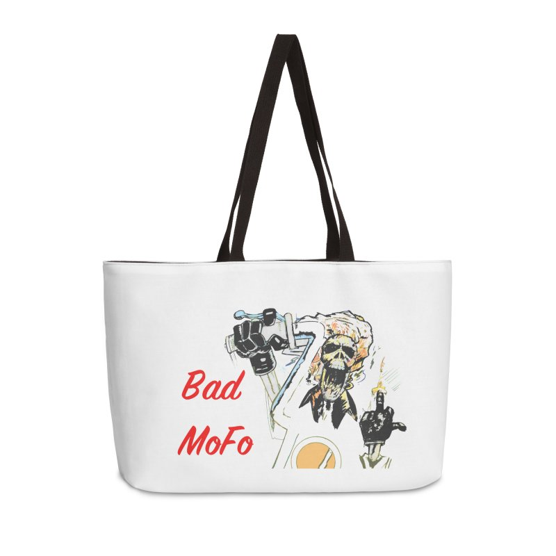 BAD MOFO Accessories Weekender Bag Bag by crowsong's Artist Shop