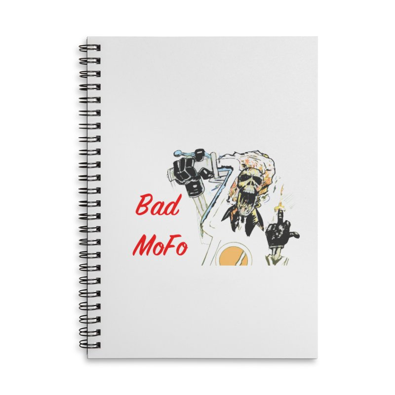BAD MOFO Accessories Lined Spiral Notebook by crowsong's Artist Shop