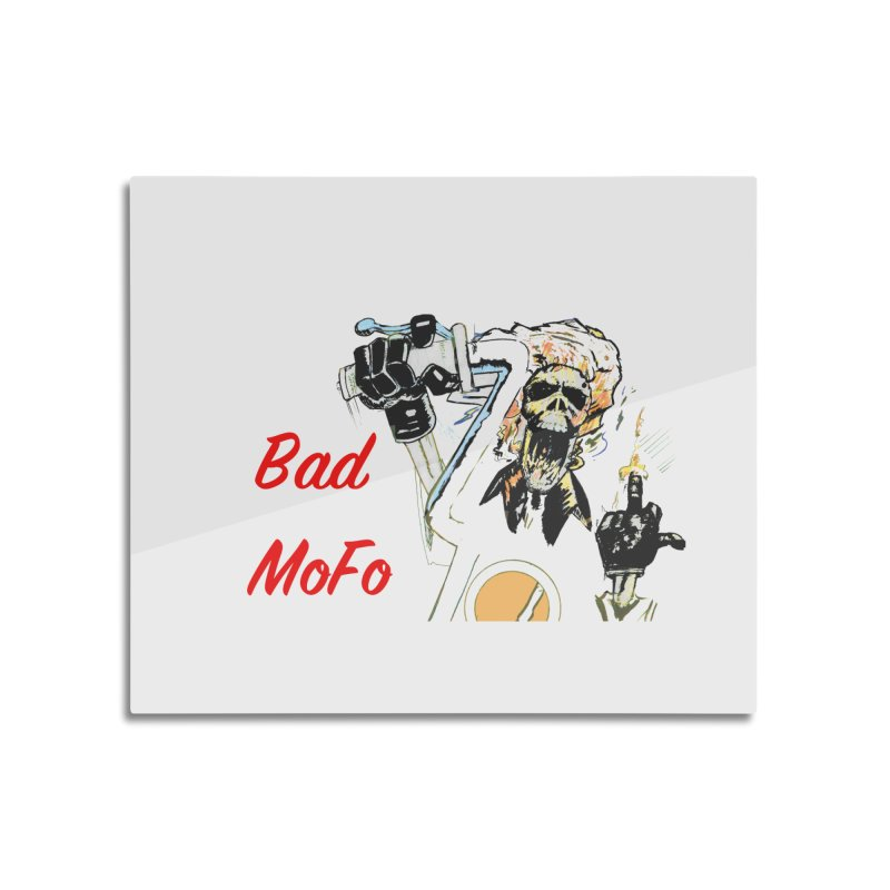 BAD MOFO Home Mounted Aluminum Print by crowsong's Artist Shop