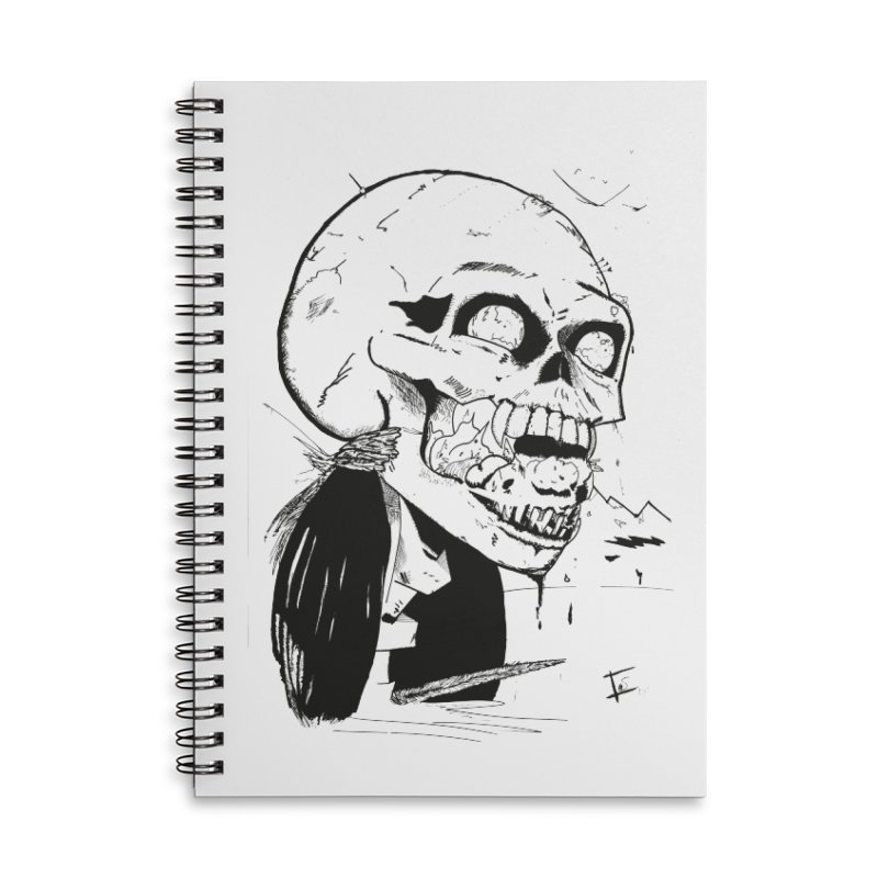 Speak No More Accessories Lined Spiral Notebook by crowsong's Artist Shop