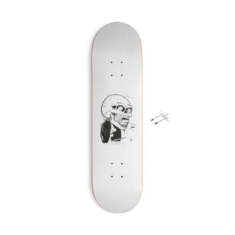 Speak No More Accessories With Hanging Hardware Skateboard by crowsong's Artist Shop