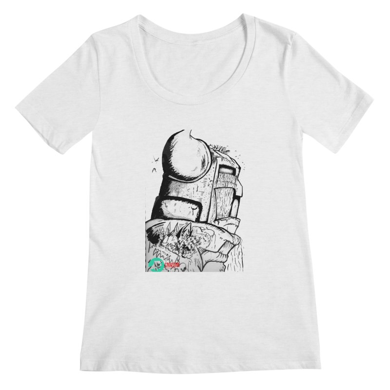 The Killer of Mountains Women's Regular Scoop Neck by crowsong's Artist Shop