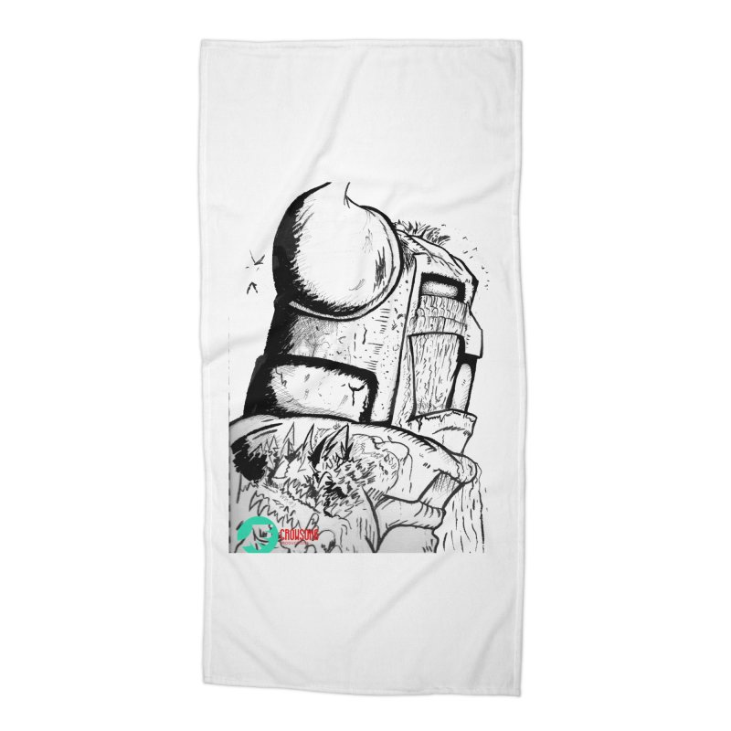 The Killer of Mountains Accessories Beach Towel by crowsong's Artist Shop