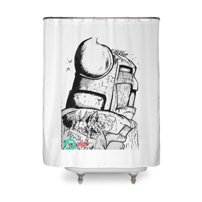 The Killer of Mountains Home Shower Curtain by crowsong's Artist Shop