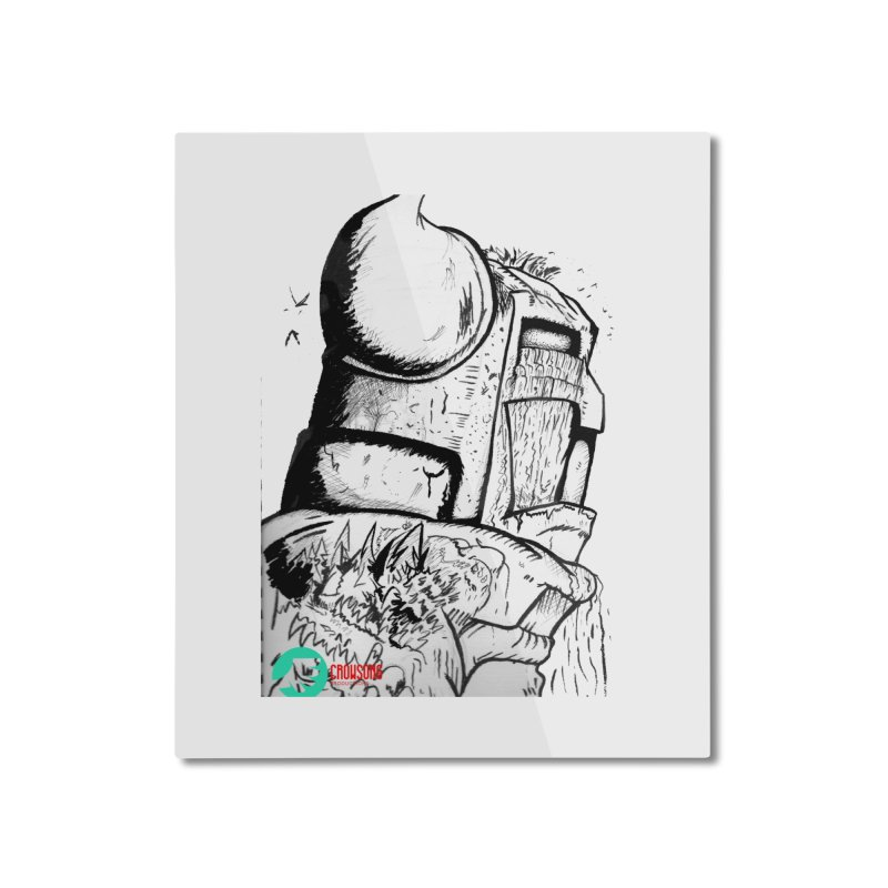 The Killer of Mountains Home Mounted Aluminum Print by crowsong's Artist Shop
