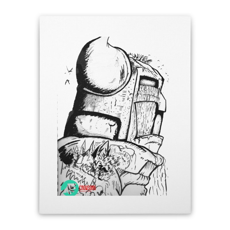 The Killer of Mountains Home Stretched Canvas by crowsong's Artist Shop