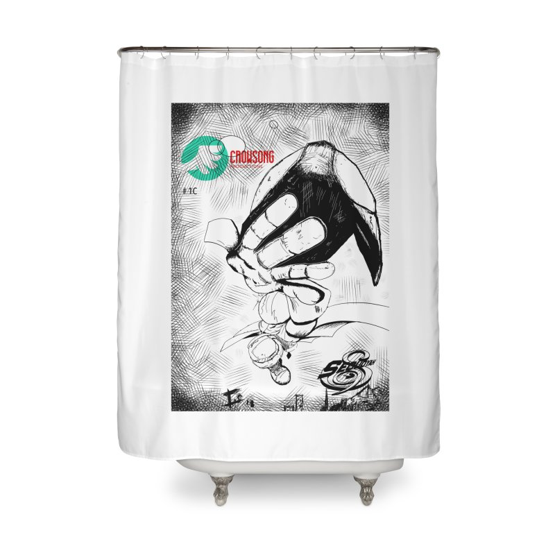 NDnaut Home Shower Curtain by crowsong's Artist Shop