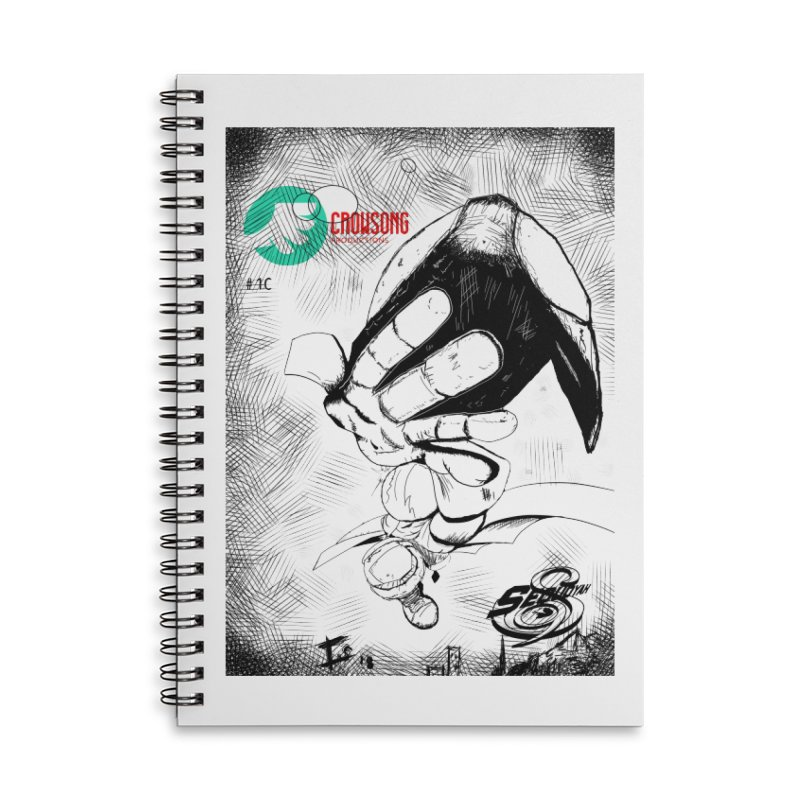 NDnaut Accessories Lined Spiral Notebook by crowsong's Artist Shop