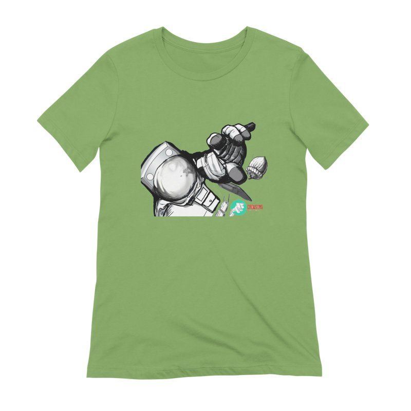 Space-corn Women's Extra Soft T-Shirt by crowsong's Artist Shop