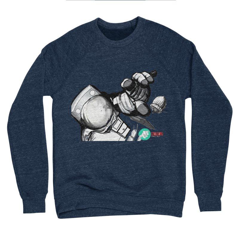 Space-corn Men's Sponge Fleece Sweatshirt by crowsong's Artist Shop