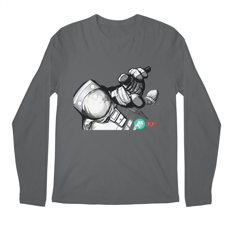Space-corn Men's Longsleeve T-Shirt by crowsong's Artist Shop