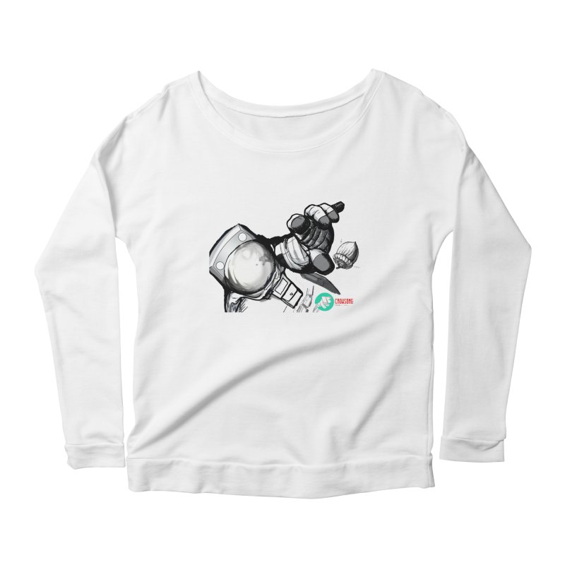 Space-corn Women's Scoop Neck Longsleeve T-Shirt by crowsong's Artist Shop