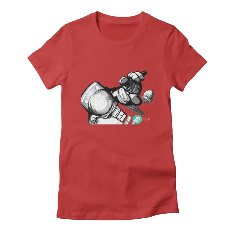 Space-corn Women's Fitted T-Shirt by crowsong's Artist Shop