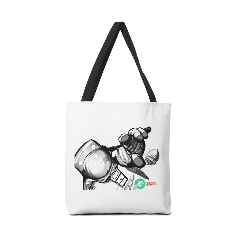 Space-corn Accessories Tote Bag Bag by crowsong's Artist Shop