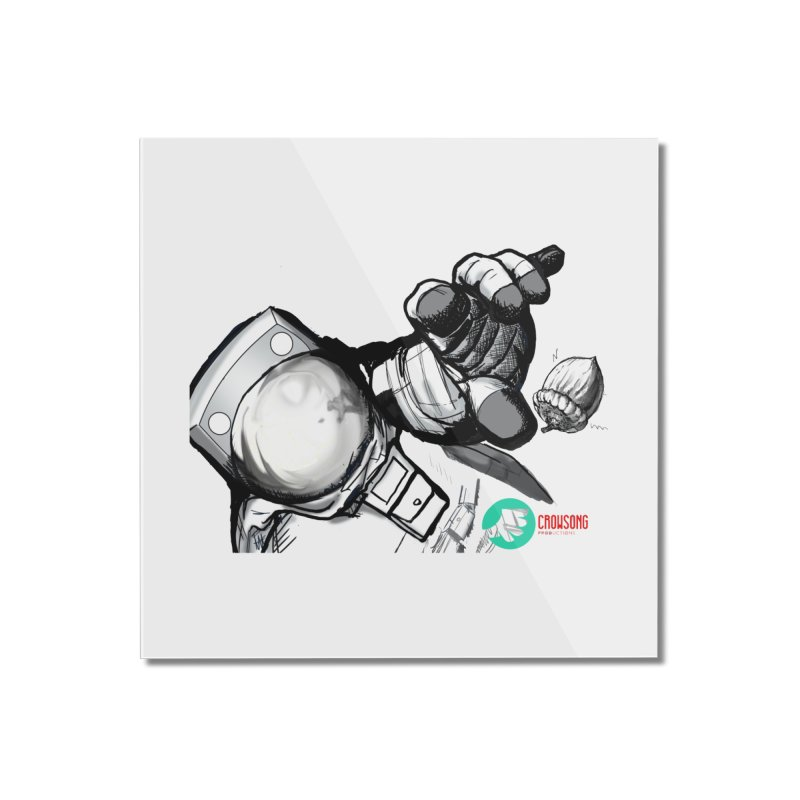 Space-corn Home Mounted Acrylic Print by crowsong's Artist Shop