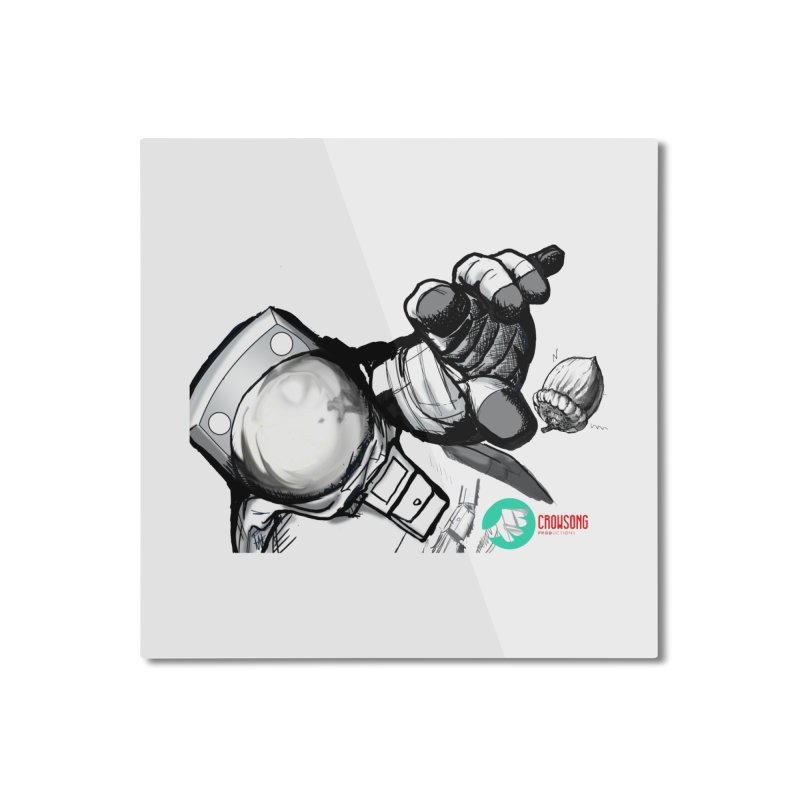 Space-corn Home Mounted Aluminum Print by crowsong's Artist Shop