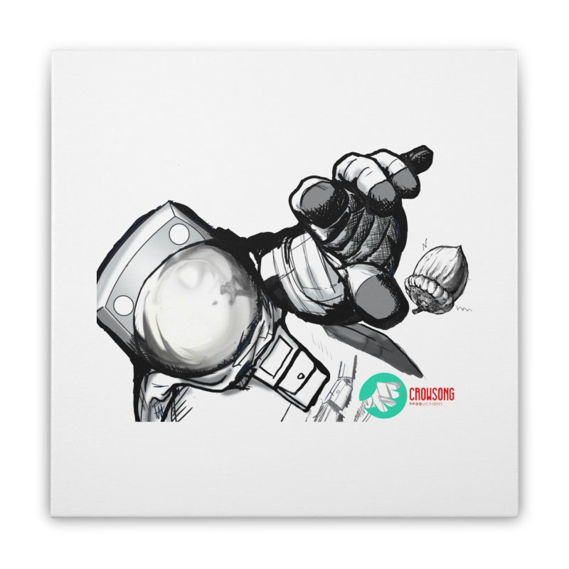 Space-corn Home Stretched Canvas by crowsong's Artist Shop