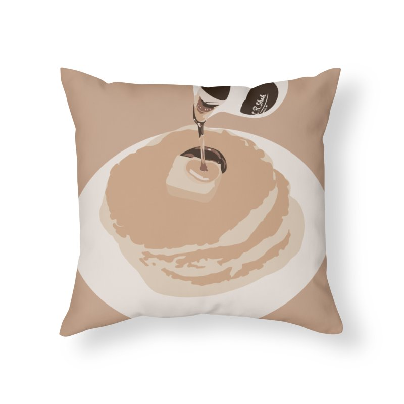 Pancakes Home Throw Pillow by C.R. Shah Art