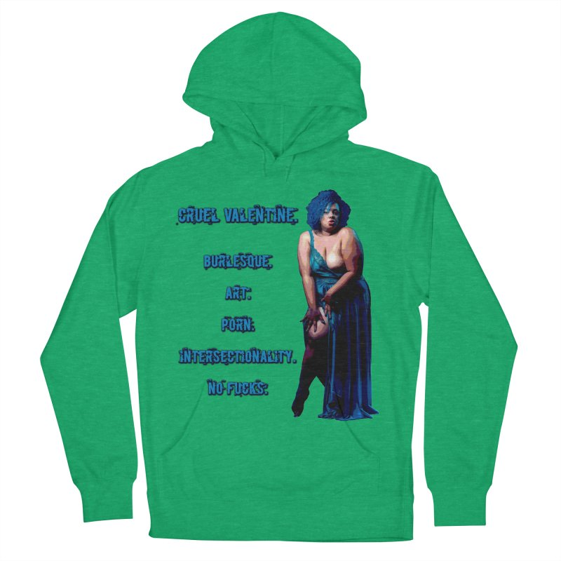 Cruel Valentine No Fucks Pin Up Women's French Terry Pullover Hoody by Cruel Valentine