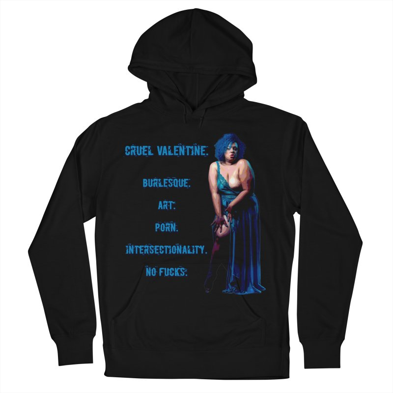 Cruel Valentine No Fucks Pin Up Men's French Terry Pullover Hoody by Cruel Valentine