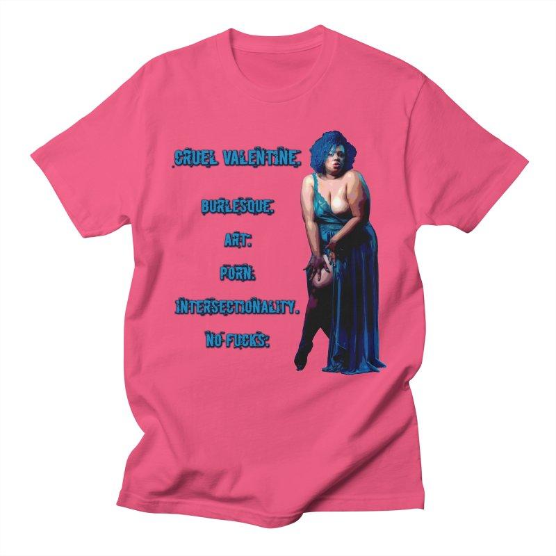 Cruel Valentine No Fucks Pin Up Men's Regular T-Shirt by Cruel Valentine