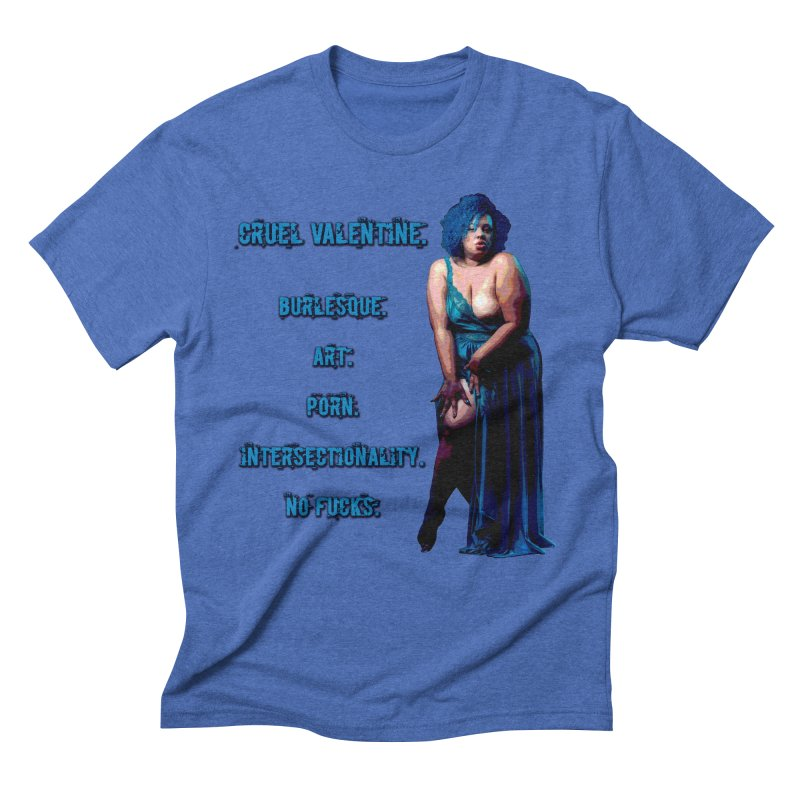 Cruel Valentine No Fucks Pin Up Men's Triblend T-Shirt by Cruel Valentine