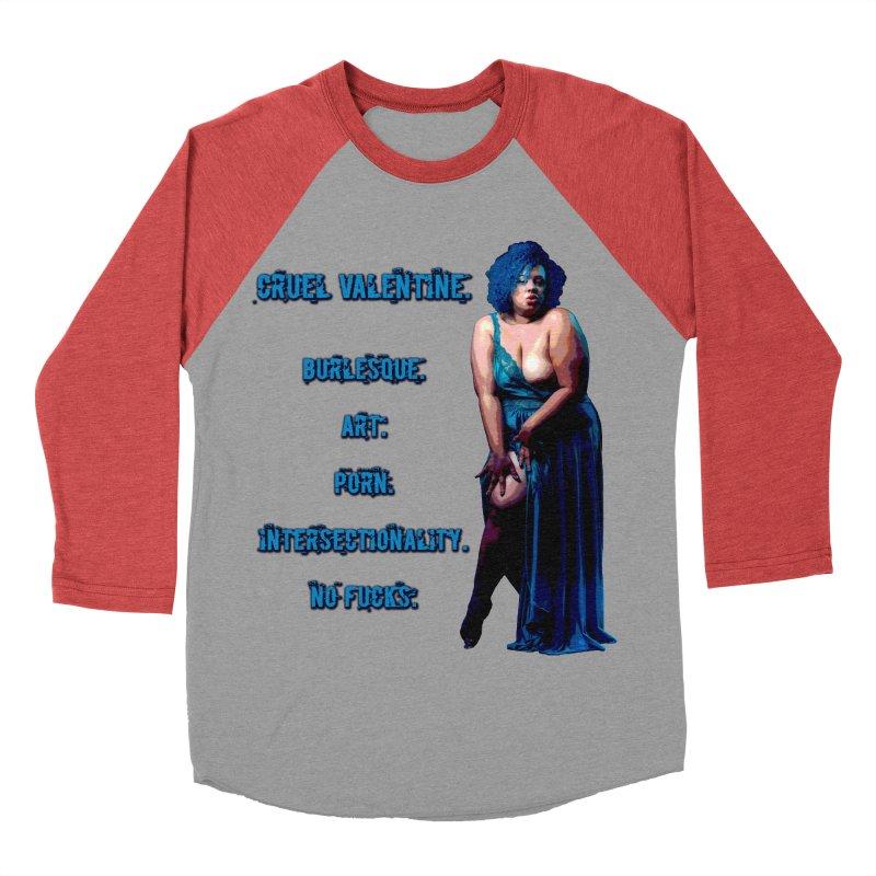 Cruel Valentine No Fucks Pin Up Men's Baseball Triblend Longsleeve T-Shirt by Cruel Valentine