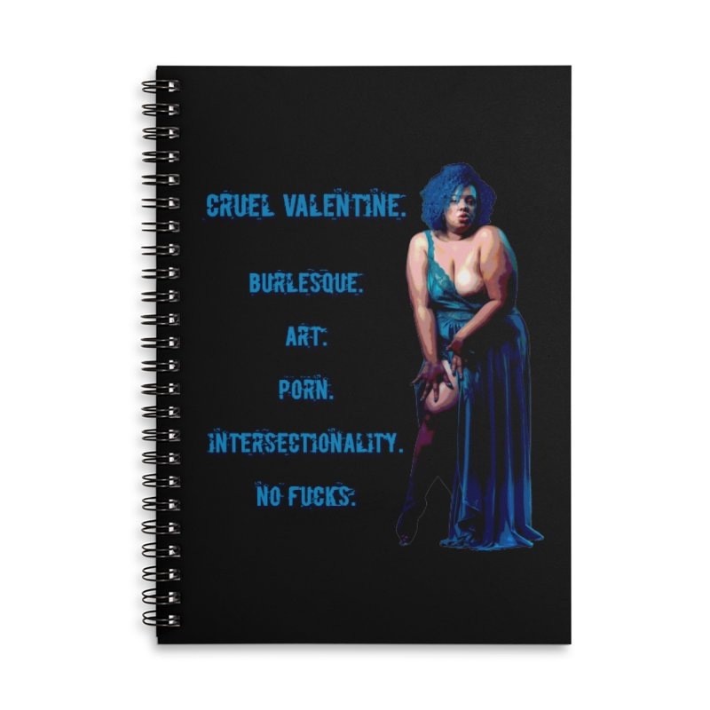 Cruel Valentine No Fucks Pin Up Accessories Lined Spiral Notebook by Cruel Valentine