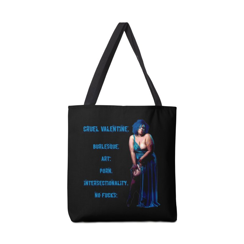 Cruel Valentine No Fucks Pin Up Accessories Tote Bag Bag by Cruel Valentine
