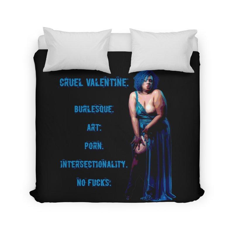 Cruel Valentine No Fucks Pin Up Home Duvet by Cruel Valentine
