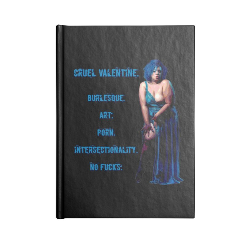 Cruel Valentine No Fucks Pin Up Accessories Blank Journal Notebook by Cruel Valentine