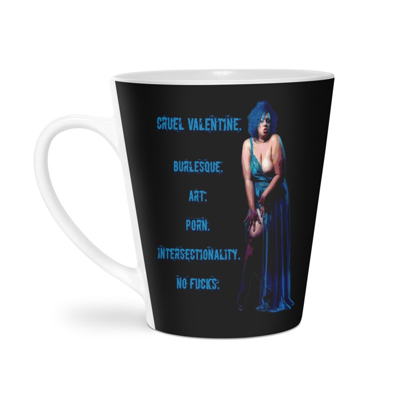 Cruel Valentine No Fucks Pin Up Accessories Latte Mug by Cruel Valentine