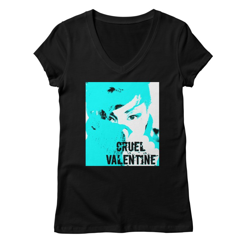 """Cruel Valentine """"Forget Me Not"""" Women's V-Neck by Cruel Valentine"""