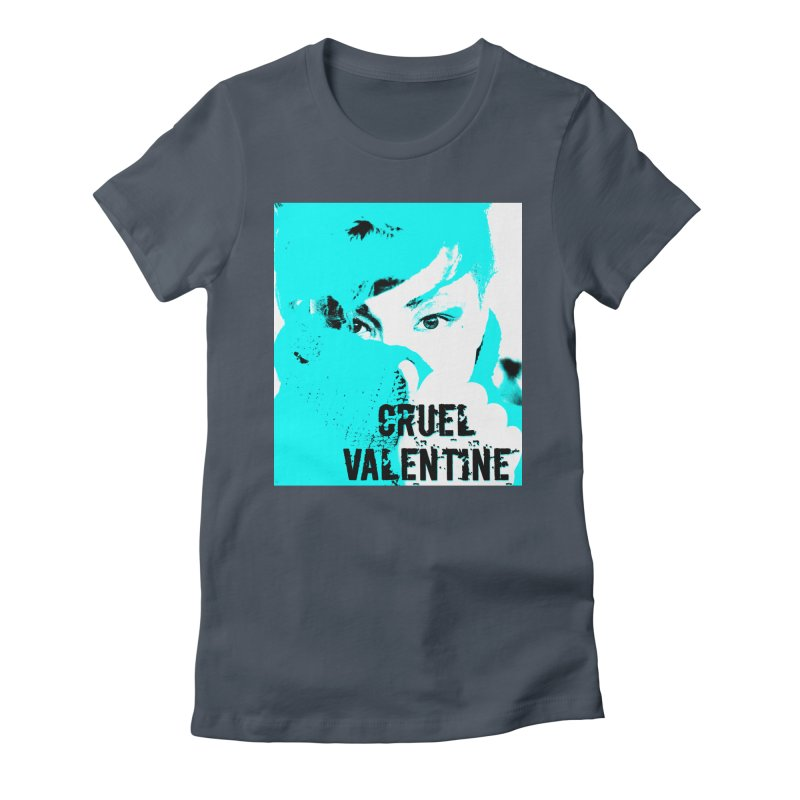 "Cruel Valentine ""Forget Me Not"" Women's Fitted T-Shirt by Cruel Valentine"