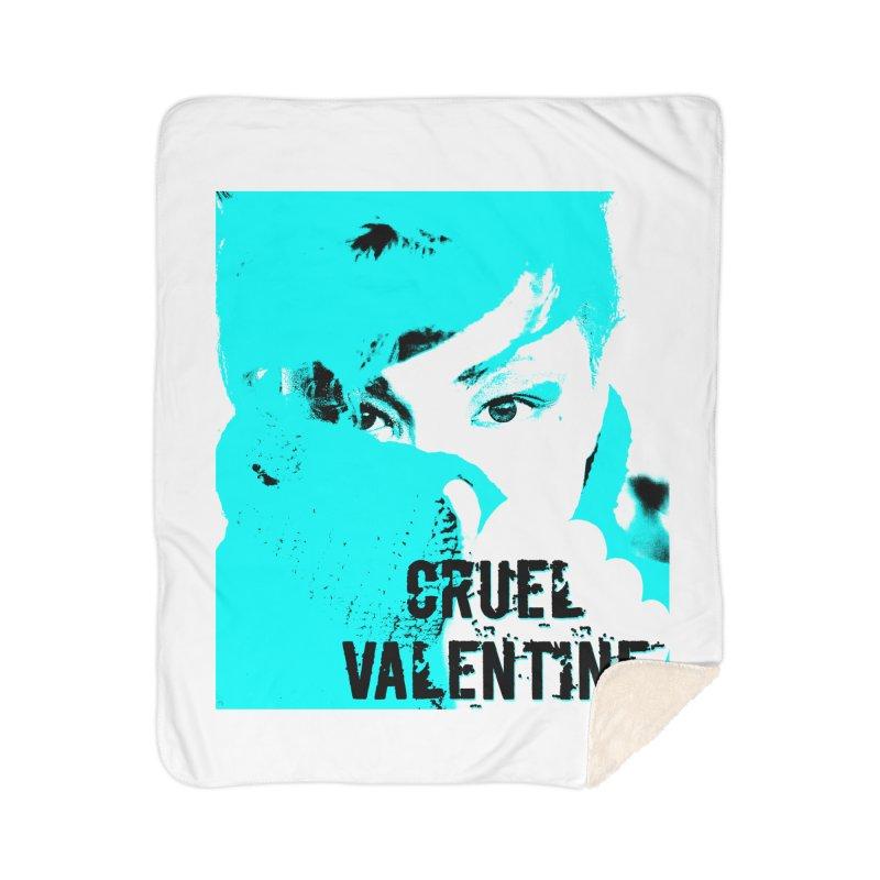 "Cruel Valentine ""Forget Me Not"" Home Sherpa Blanket Blanket by Cruel Valentine"