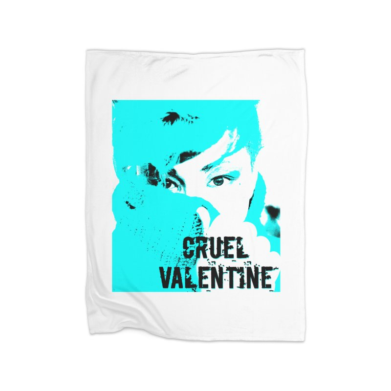 "Cruel Valentine ""Forget Me Not"" Home Fleece Blanket Blanket by Cruel Valentine"