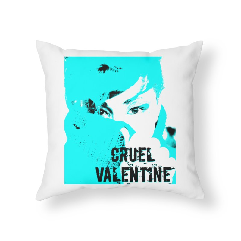 "Cruel Valentine ""Forget Me Not"" Home Throw Pillow by Cruel Valentine"