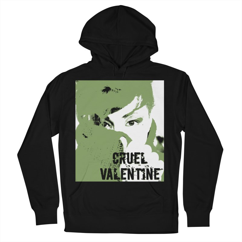 """Cruel Valentine """"Forget Me Not"""" in Green Women's French Terry Pullover Hoody by Cruel Valentine"""