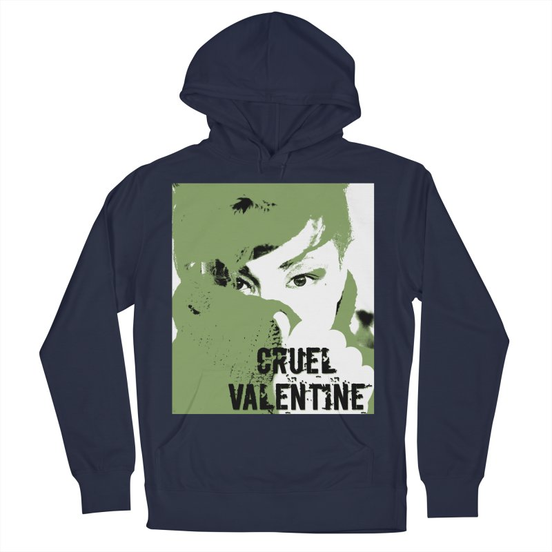 "Cruel Valentine ""Forget Me Not"" in Green Women's French Terry Pullover Hoody by Cruel Valentine"