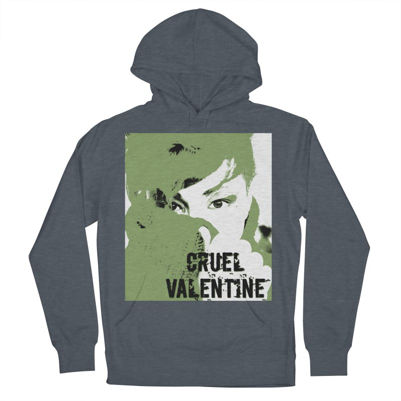 "Cruel Valentine ""Forget Me Not"" in Green Men's French Terry Pullover Hoody by Cruel Valentine"