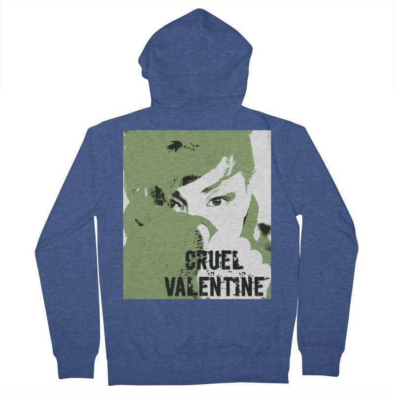 """Cruel Valentine """"Forget Me Not"""" in Green Women's French Terry Zip-Up Hoody by Cruel Valentine"""