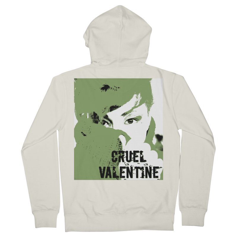"Cruel Valentine ""Forget Me Not"" in Green Women's French Terry Zip-Up Hoody by Cruel Valentine"